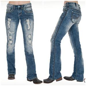 COWGIRL TUFF Avalanche Medium Wash Jeans W27 L33